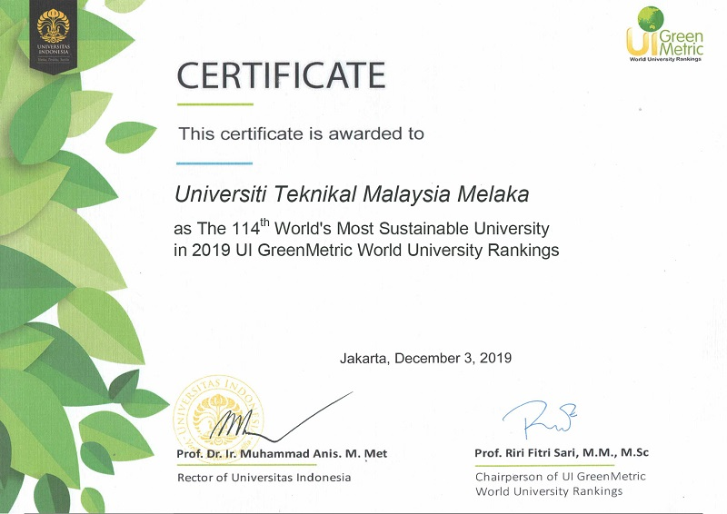 ui green metric 20191